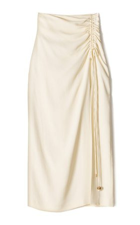 Malorie Ruched Georgette Midi Skirt By Nanushka | Moda Operandi