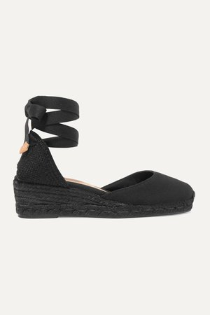 Black Carina 30 canvas wedge espadrilles | Castañer | NET-A-PORTER