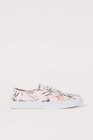 Canvas Sneakers - Beige