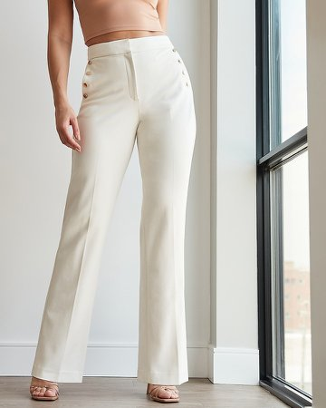 High Waisted Supersoft Twill Curvy Trouser Pant