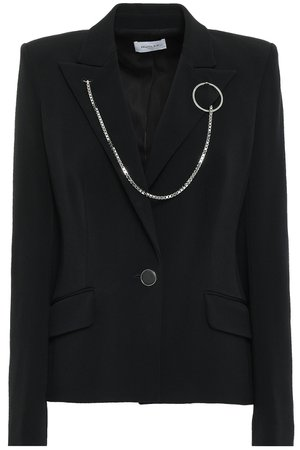Black Chain-embellished cady blazer   Sale up to 70% off   THE OUTNET   MUGLER   THE OUTNET