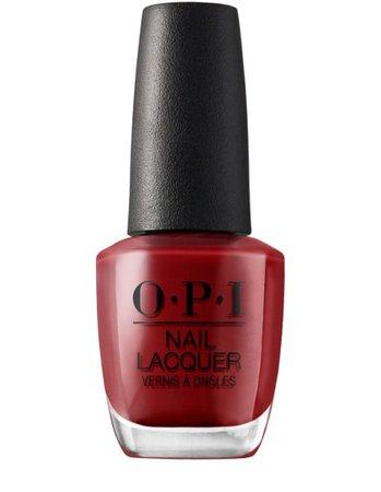 Red OPI nail polish