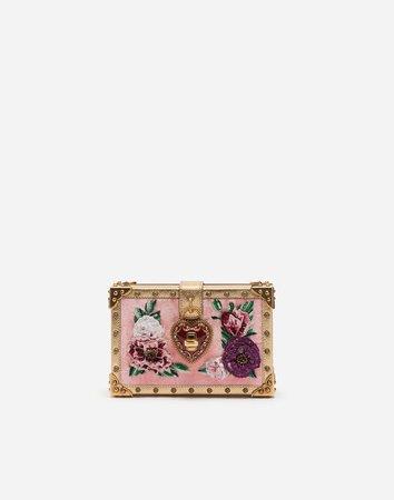 My Heart Clutch In Velvet - Women's Bags | Dolce&Gabbana