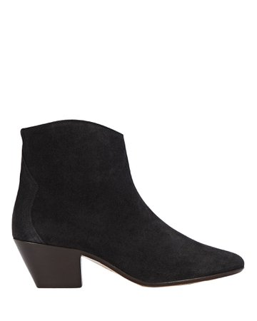Isabel Marant Dacken Suede Ankle Booties | INTERMIX®