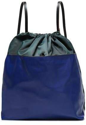 Leather-paneled Shell Backpack