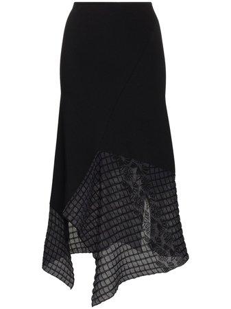 Roland Mouret Loda Asymmetric Midi Skirt Ss20 | Farfetch.com