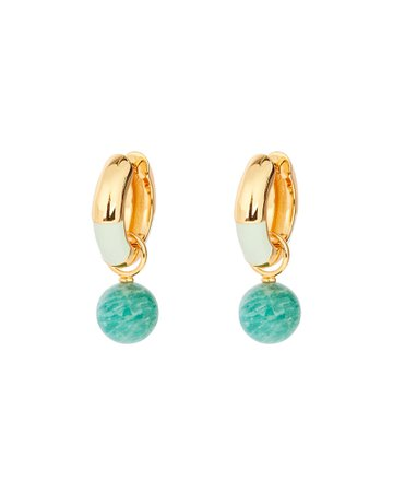 Lizzie Fortunato Life Saver Drop Hoop Earrings | INTERMIX®