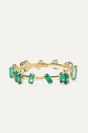 Gold 18-karat gold emerald ring | Suzanne Kalan | NET-A-PORTER