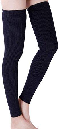 Amazon.com: LerBen Womens Warm Cashmere Leg Warmers Long Soft Knee High Legging Socks (navy): Clothing