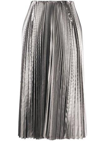 Balenciaga Metallic Pleated Skirt - Farfetch
