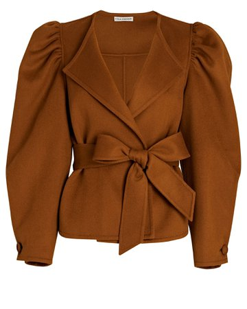 Ulla Johnson Maxine Tie-Waist Wool Jacket | INTERMIX®