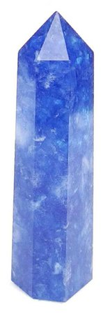 blue crystal pillar
