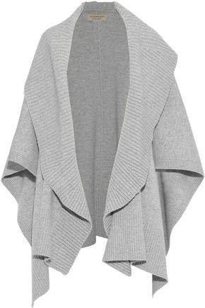 Melange Wool-blend Cape