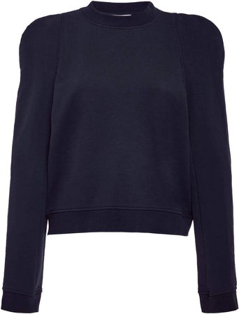 Tibi Sweatshirt Sculpted Shoulder Sweatshirt Size: XXS