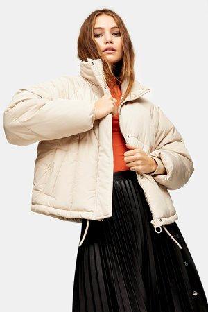 Ecru Padded Puffer Jacket