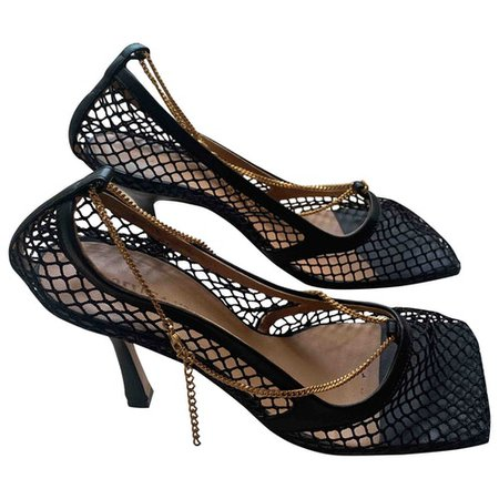 Stretch leather heels Bottega Veneta Black size 37 EU in Leather - 10219314