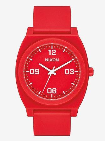 Nixon Time Teller P Corp Matte Red White Watch