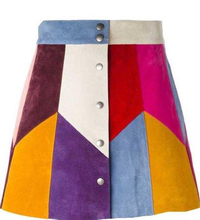 rainbow panel skirt Marc Jacobs