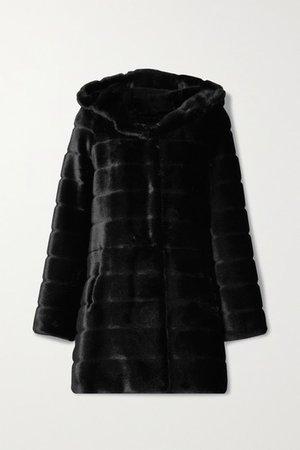 Oh My Deer Faux Fur Coat - Black