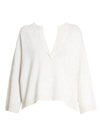 Valentino Cashmere V-Neck Sweater | SaksFifthAvenue