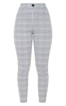 Black Checked Skinny Trouser | PrettyLittleThing