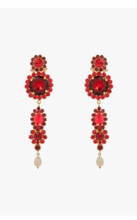 Crystal Clip-On Statement Earrings By Erdem | Moda Operandi