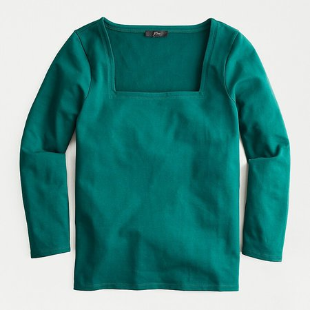 J.Crew: Fitted Square Neck T-shirt