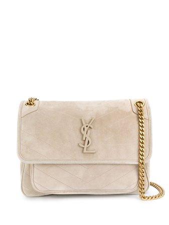Saint Laurent Monogram Leather Shoulder Bag - Farfetch