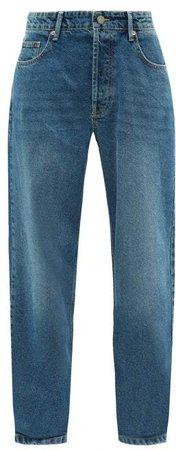 Opa Baggy Boyfriend Jeans - Womens - Dark Blue