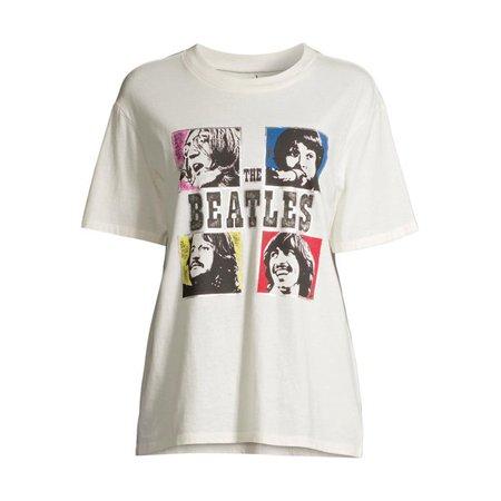 Scoop - Scoop Women's Beatles Let It Be Crewneck Boyfriend Graphic T-Shirt - Walmart.com - Walmart.com