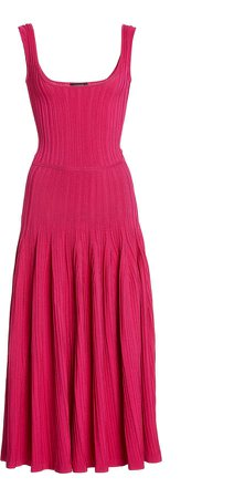 Cushnie Sleeveless Knit Midi Dress