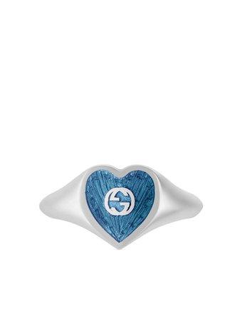 Gucci Bague Cœur à Logo GG - Farfetch