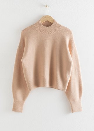 Mock Neck Sweater - Beige - Sweaters - & Other Stories
