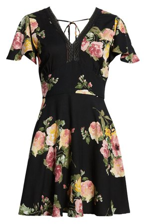 Band of Gypsies Sycamore Floral Print Minidress | Nordstrom