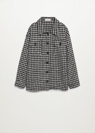 Houndstooth jacket - Women | Mango USA