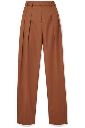 Victoria, Victoria Beckham | Pleated woven straight-leg pants | NET-A-PORTER.COM