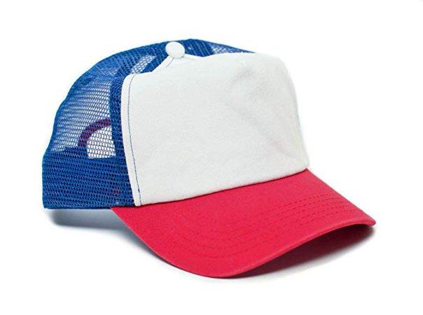 Stranger Things Movie Cap Hat Red/White Cotton Royal mesh unisex-adult Snapback at Amazon Men's Clothing store: