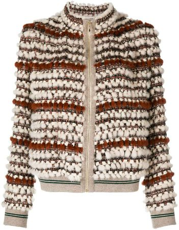 Mila Hailey knitted mink jacket