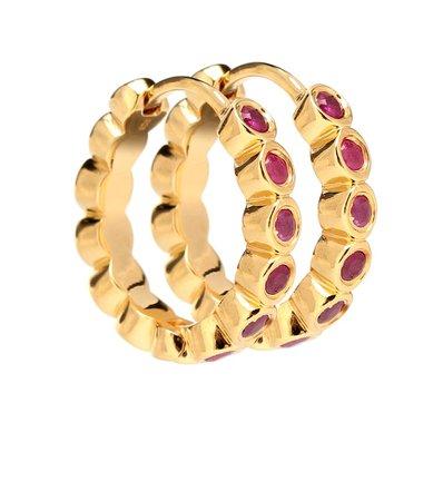 THEODORA WARRE Gold-plated hoop earrings