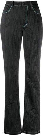High-Rise Straight Leg Trousers