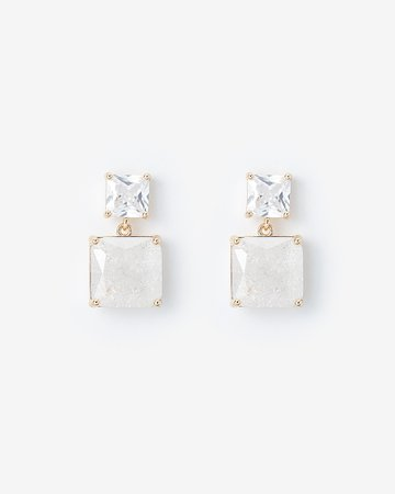 Square Post Back Earrings | Express