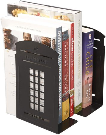Amazon.com: Winterworm Vintage Fashion British Style London Telephone Booth Kiosk Decorative Iron Metal Bookends Book End Book Organizer For Library School Office Desk Study Home Decoration Gift (Black): Gateway