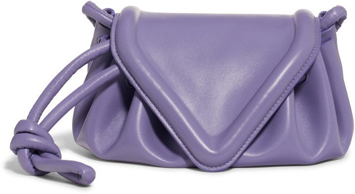 Small Beak Triangle Flap Leather Shoulder Bag