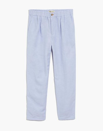 Linen-Blend Track Trousers