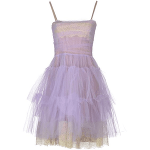 Purple/Lilac Dress Tulle PNG