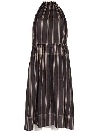 Lee Mathews Granada Gathered Midi Dress - Farfetch