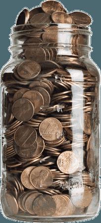 Download Penny Jar Png - Jar Of Coins Transparent, Png Download - uokpl.rs