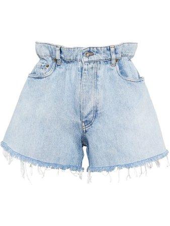Miu Miu High-Waisted Denim Shorts GWP3001SXP Blue   Farfetch