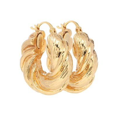 Twisted Gold-Plated Hoop Earrings - Rejina Pyo | Mytheresa