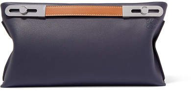 Missy Small Woven Textured-leather Shoulder Bag - Navy